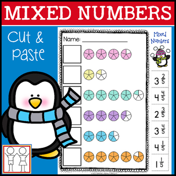 Mixed Numbers Cut and Paste