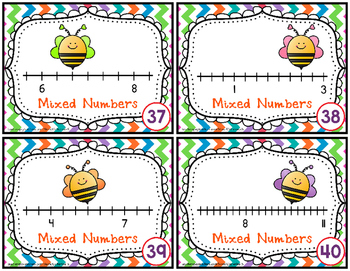 Mixed Numbers on a Number Line Task Cards