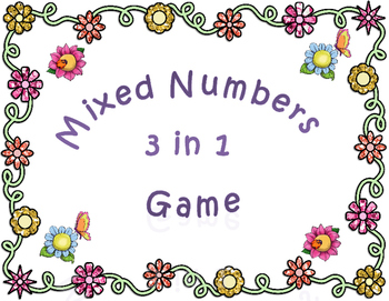 Mixed Numbers 3 in 1 Game