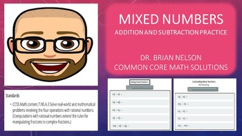 Mixed Numbers (Addition and Subtraction Practice) - PowerPoint and Printables!