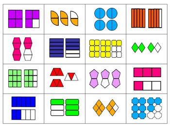 Mixed Numbers Concentration/Matching Cards
