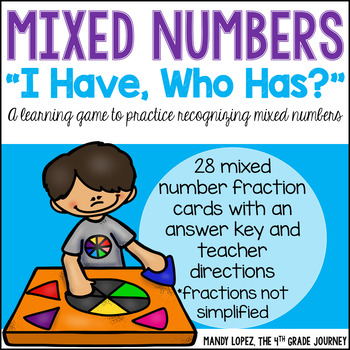 """Mixed Numbers """"I Have, Who Has?"""""""