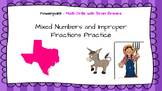 Mixed Numbers & Improper Fraction Practice with Brain Brea