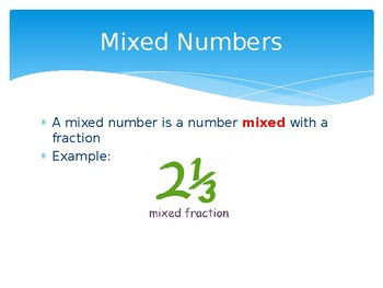 Mixed Numbers & Improper Fractions