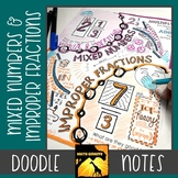 Mixed Numbers & Improper Fractions Doodle Notes