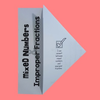 Mixed Numbers & Improper Fractions Fold-N-Go Notes™