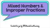 Mixed Numbers & Improper Fractions GOOGLE CLASSROOM ACTIVITY!