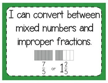 Mixed Numbers & Improper Fractions Interactive Notebook & Quick Check