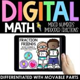 Mixed Numbers Improper Fractions Practice - Digital Intera
