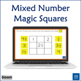 Mixed Numbers Magic Squares: Boom Cards