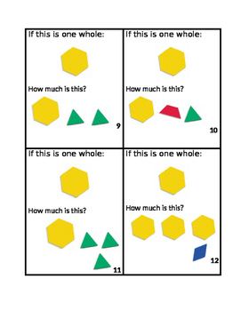 Mixed Numbers Manipulative Task Cards