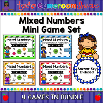 Mixed Numbers Mini Game Bundle