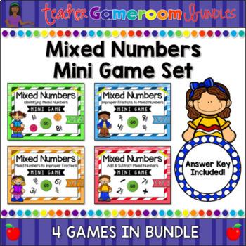 Mixed Numbers Mini Game Bundle