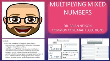 Mixed Numbers Multiplication (PowerPoint Lesson with Printables!)