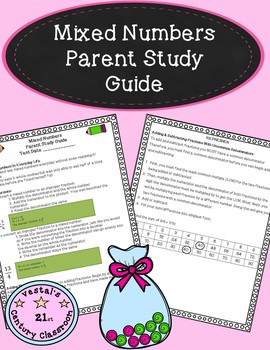Mixed Numbers Parent Study Guide- Conversions, Adding, & Subtracting