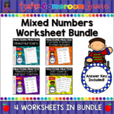 Mixed Numbers Worksheet Bundle
