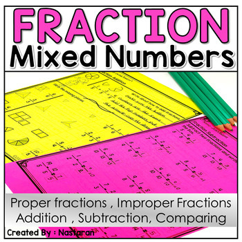 Improper Fractions And Mixed Numbers:Adding and Subtracting Fractions
