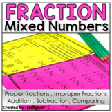 Mixed Numbers And Improper Fractions Worksheets