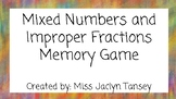 Mixed Numbers and Improper Fraction Match