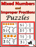 Mixed Numbers and Improper Fractions Puzzles - Fraction Ac