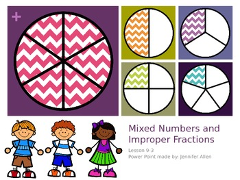 Mixed Numbers and Improper Fractions (5th Grade EnVision M
