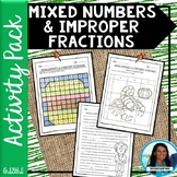Mixed Numbers and Improper Fractions Activity Pack 6.NS.A.1