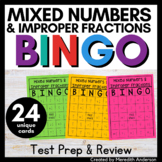 Mixed Numbers and Improper Fractions Bingo