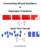 Mixed Numbers & Improper Fractions:  Converting by Shading