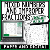 Mixed Numbers and Improper Fractions Cross Out Activity 6.NS.A.1