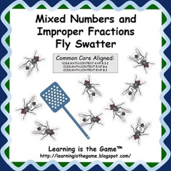 Mixed Numbers and Improper Fractions Fly Swatter