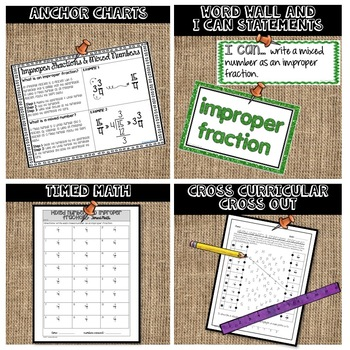 Mixed Numbers and Improper Fractions Lesson Bundle 6.NS.A.1