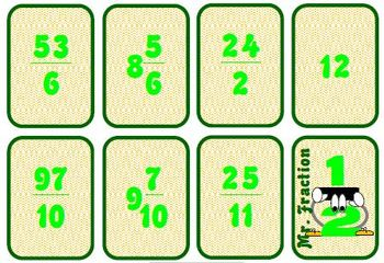 Mixed Numbers and Improper Fractions Math Activity
