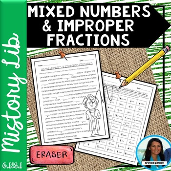 Mixed Numbers and Improper Fractions Mistory Lib 6.NS.A.1