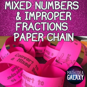 Mixed Numbers and Improper Fractions Partner Activity