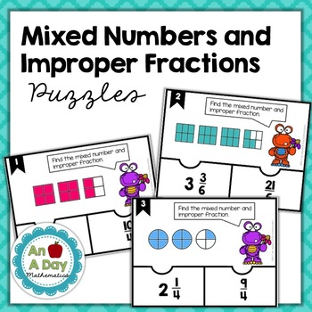 Mixed Numbers and Improper Fractions Puzzles
