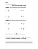 Mixed Numbers and Improper Fractions Quiz