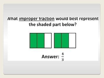 Mixed Numbers and Improper Fractions Review