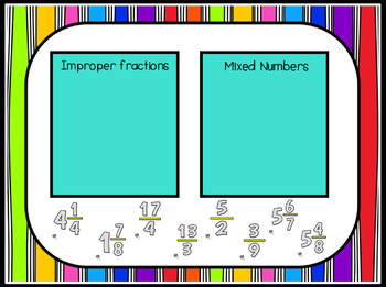 Mixed Numbers and Improper Fractions Smart Notebook Lesson