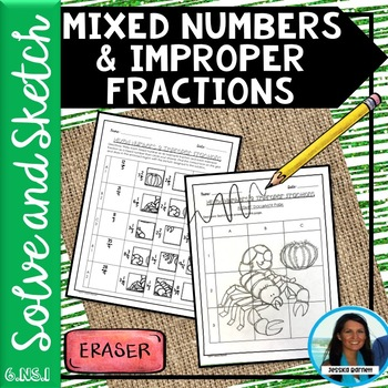 Mixed Numbers and Improper Fractions Solve and Sketch 6.NS.A.1