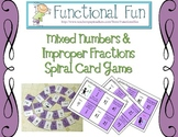 Mixed Numbers and Improper Fractions Spiral Card Game
