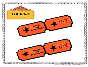 Mixed Numbers and Improper Fractions with CCSS