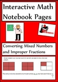Converting Mixed Numbers to Improper Fractions for Interactive Math Notebooks
