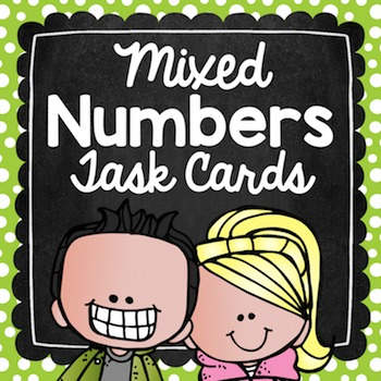 Mixed Numbers to Improper Fractions Task Cards for Centers, Scoot, & Test Prep