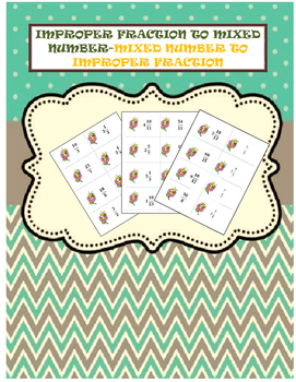 Flashcards- Mixed Numbers to Improper Fractions