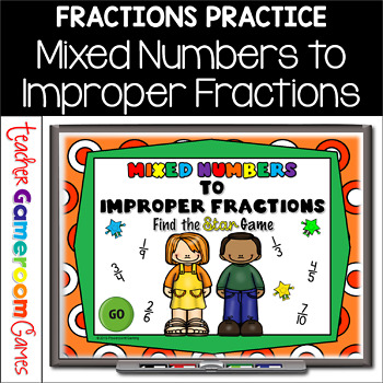 Mixed Numbers to Improper Fractions PPT Game