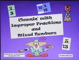 Mixed Numbers to Improper Fractions & Visa Versa Pwpt Clown Game