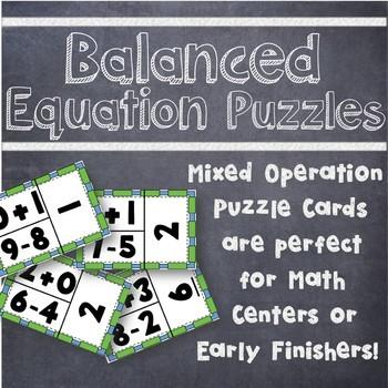 Mixed Operation Balanced Equation Puzzles