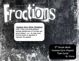 Mixed Operation Fraction Word Problem Task Cards