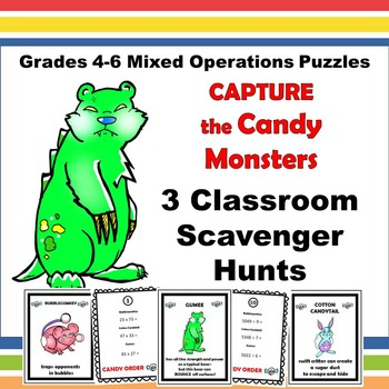 Mixed Operation Scavenger Hunt Grades 4-6
