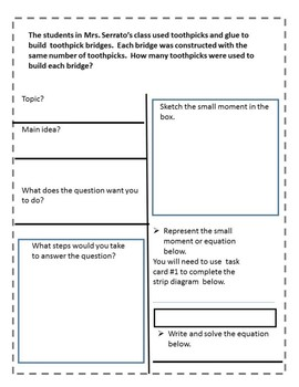 Mixed Operations Comprehension Set. Numberless word problems